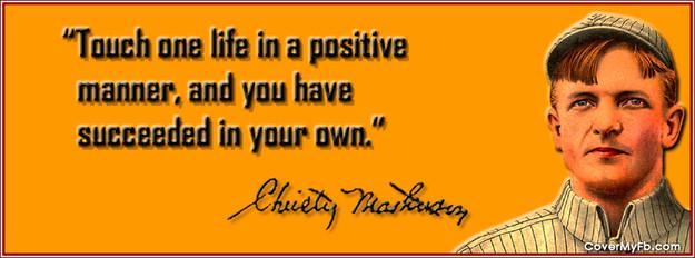 Christy Mathewson's quote #1