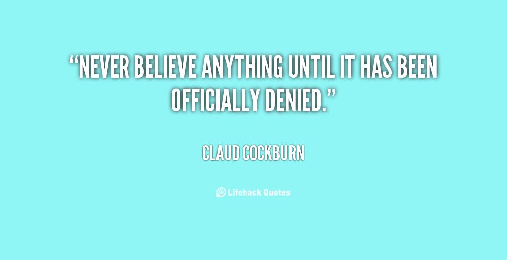 Claud Cockburn's quote #1