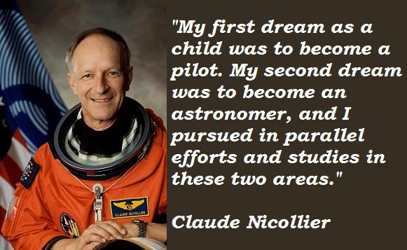 Claude Nicollier's quote
