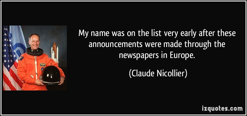 Claude Nicollier's quote #8