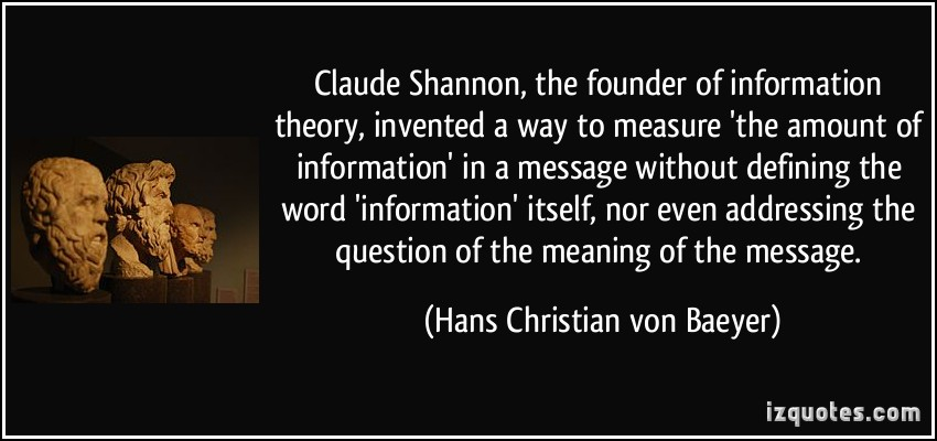 Claude Shannon's quote #2