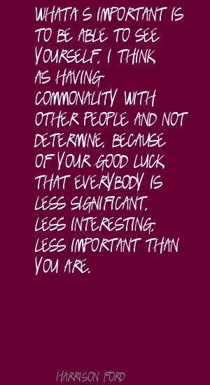 Commonality quote #1