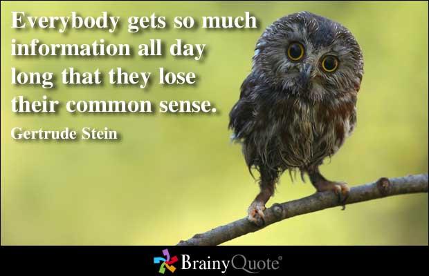 Commonsense quote #1