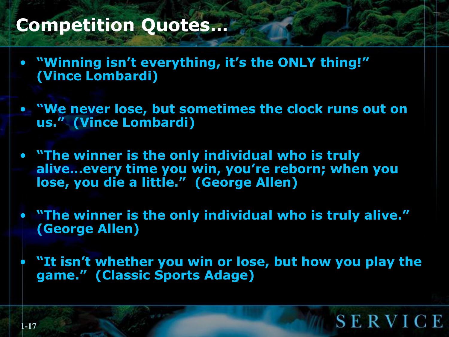 Competition quote #1