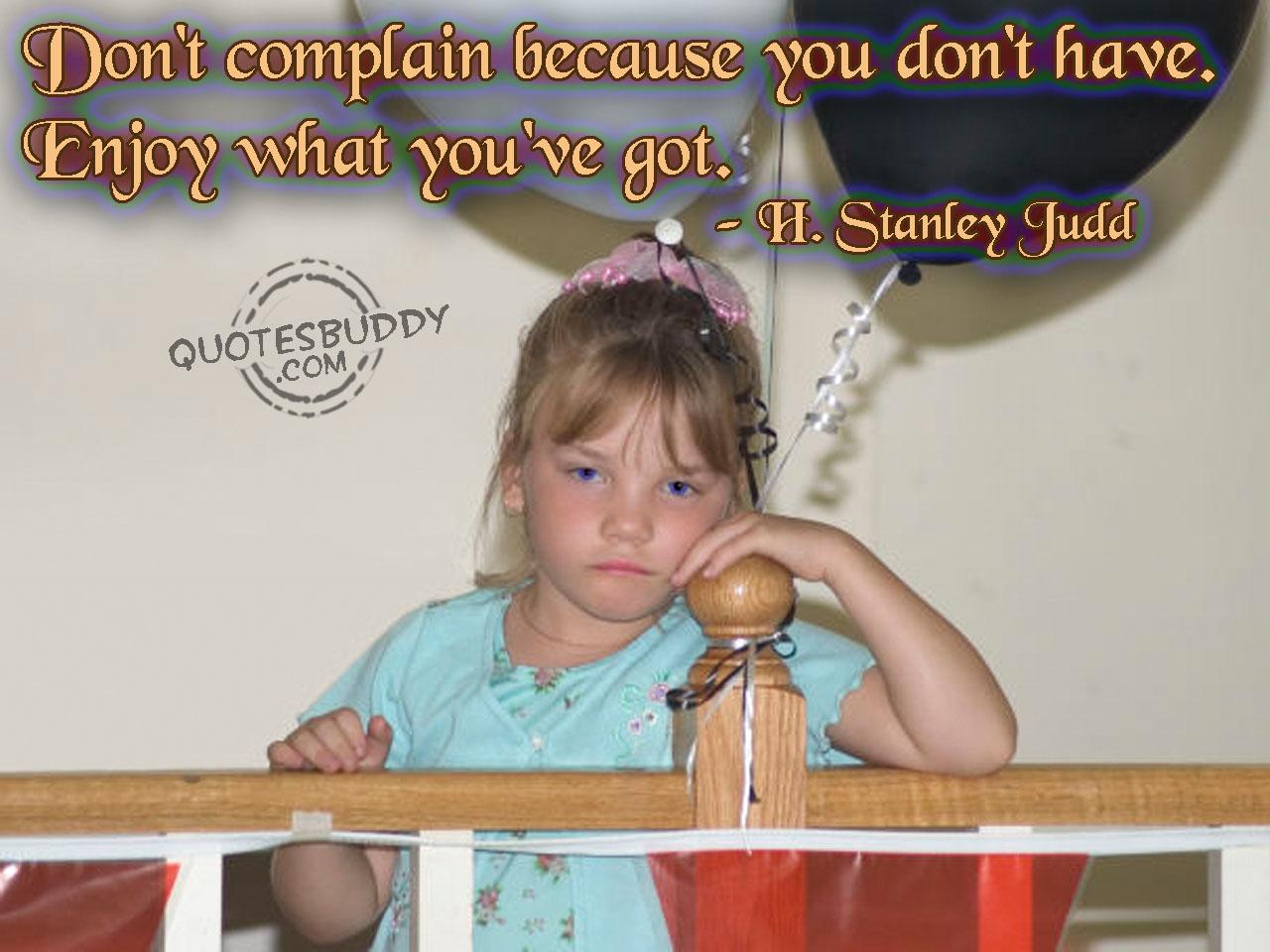 Complain quote #1