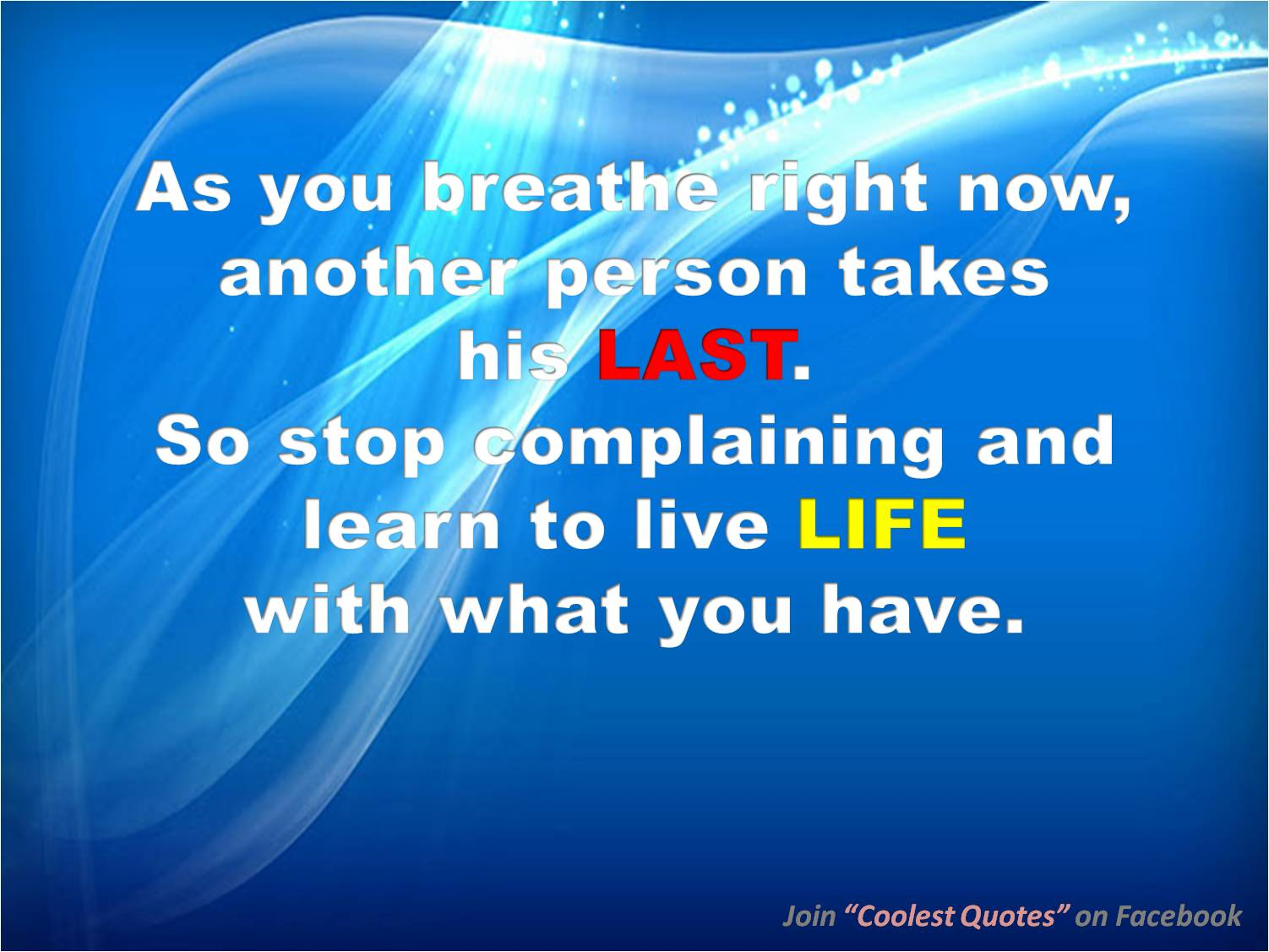 Complaining quote #1