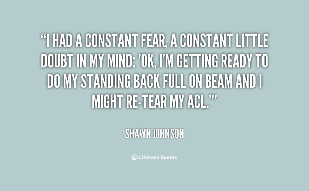 Constant Fear quote #1
