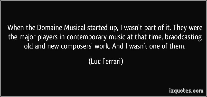 Contemporary Music quote #1