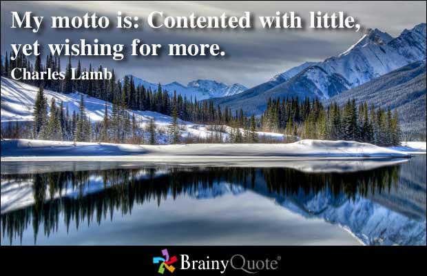 Contented quote #2