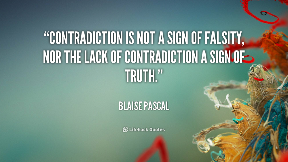 Contradiction quote #2