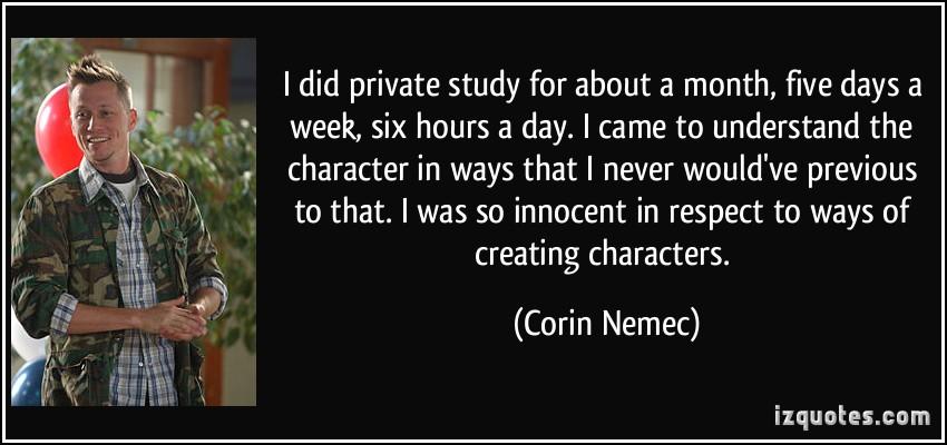 Corin Nemec's quote #3