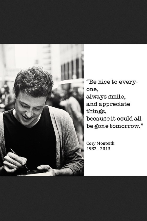 Cory Monteith's quote #8