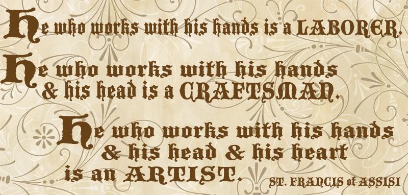 Craftsman quote #1