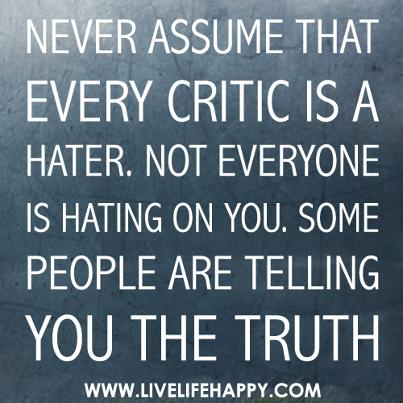 Criticism quote #6