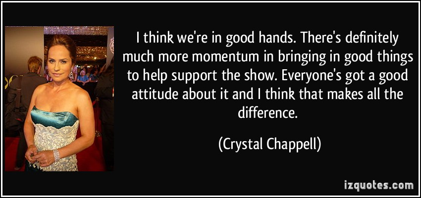 Crystal Chappell's quote