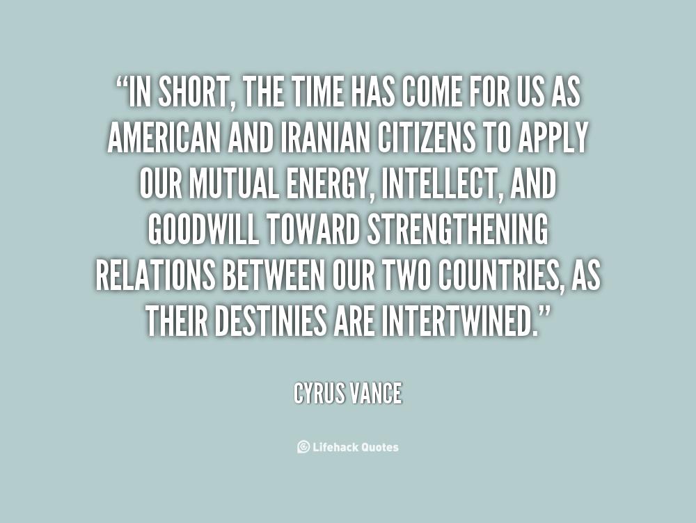Cyrus Vance's quote #1