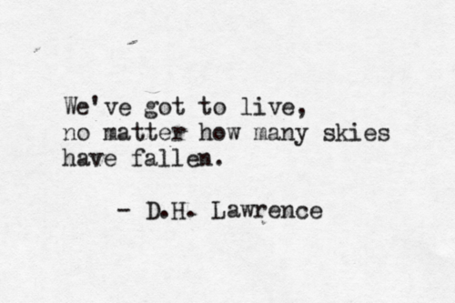 D. H. Lawrence's quote