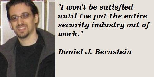 Daniel J. Bernstein's quote #5