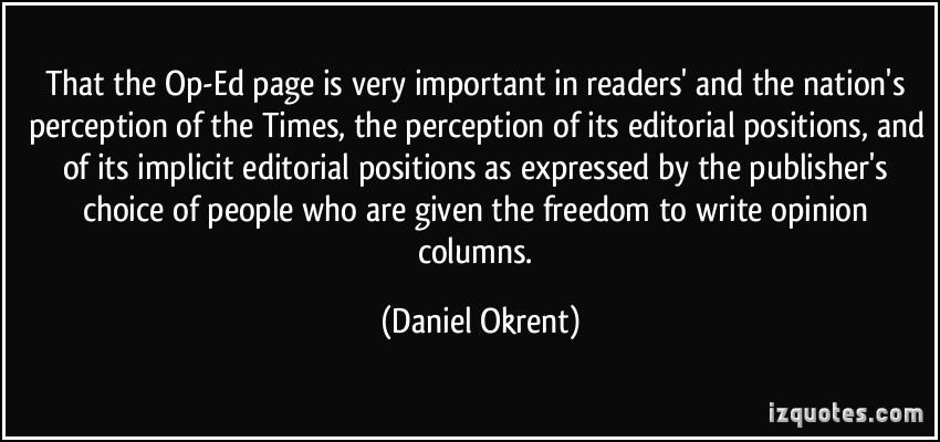 Daniel Okrent's quote #1