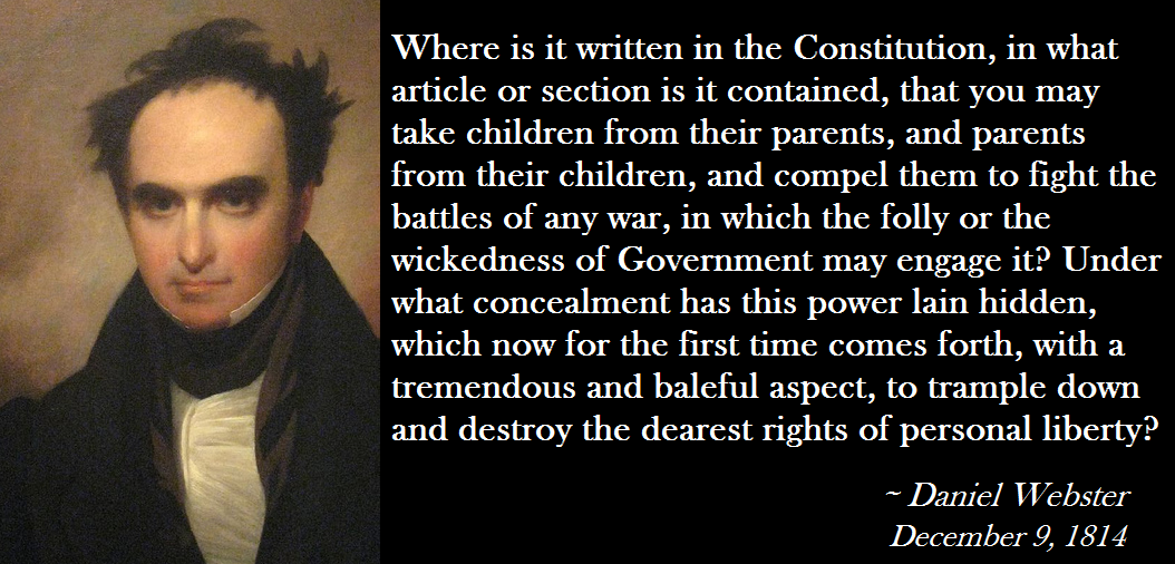 Daniel Webster's quote