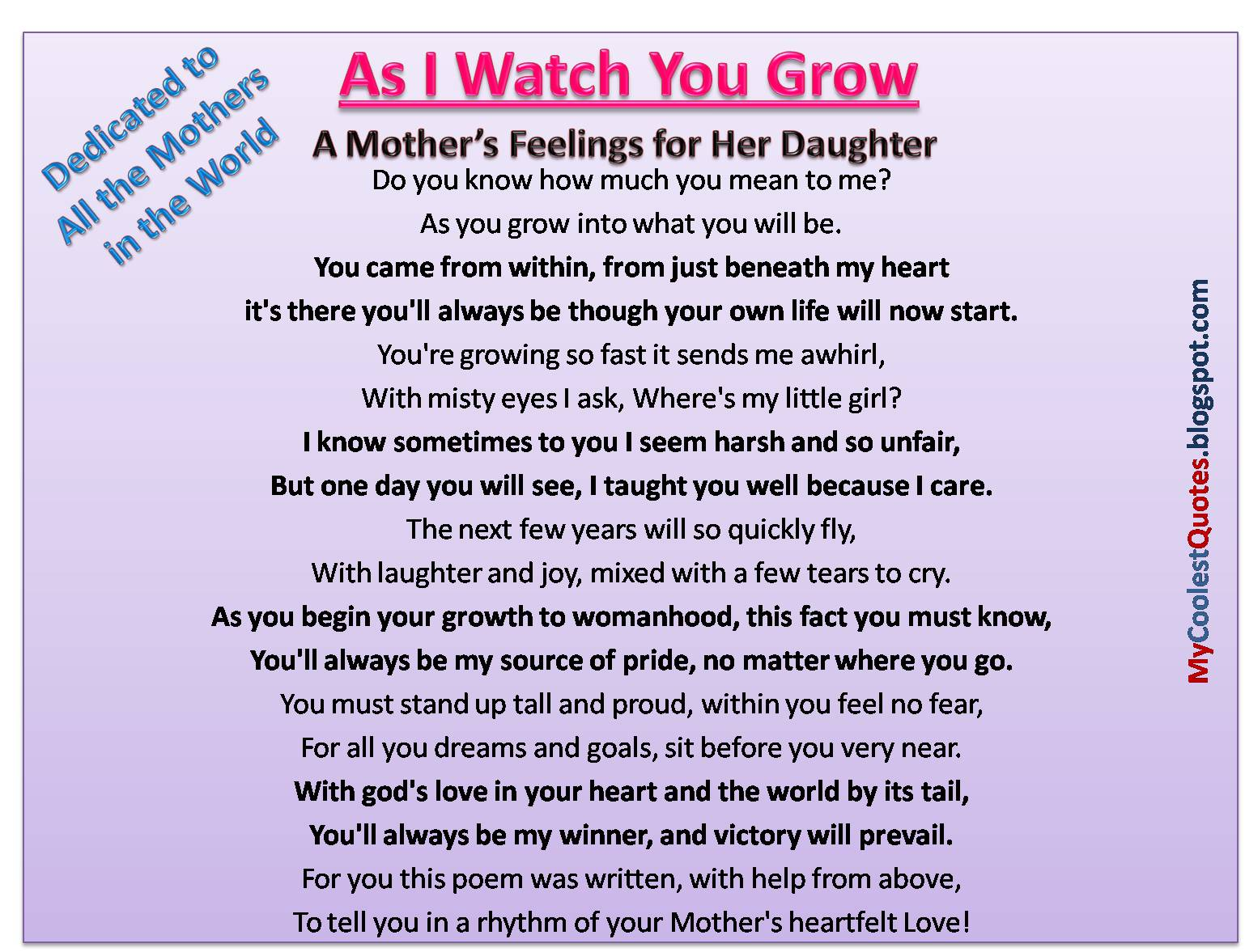 Daughter quote #1