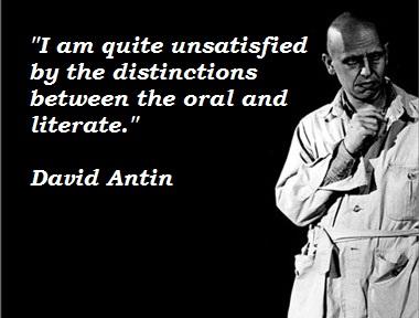 David Antin's quote #8