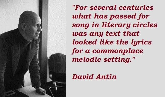 David Antin's quote #6