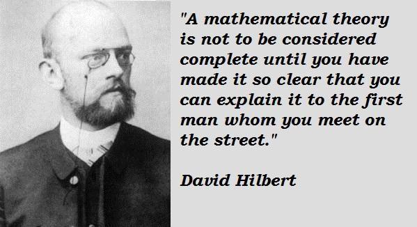 David Hilbert's quote