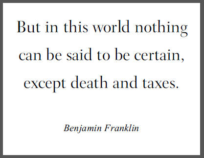 Death And Taxes quote #1