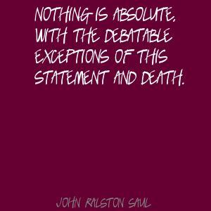Debatable quote #1