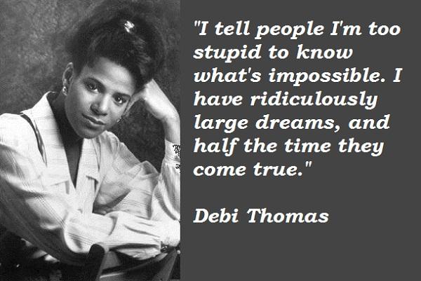 Debi Thomas's quote #1