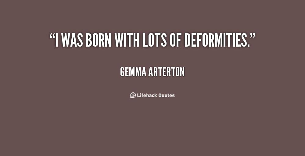 Deformities quote #1