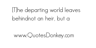 Departing quote #1