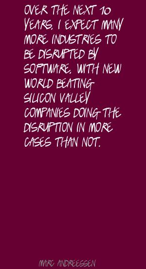 Disruption quote #1