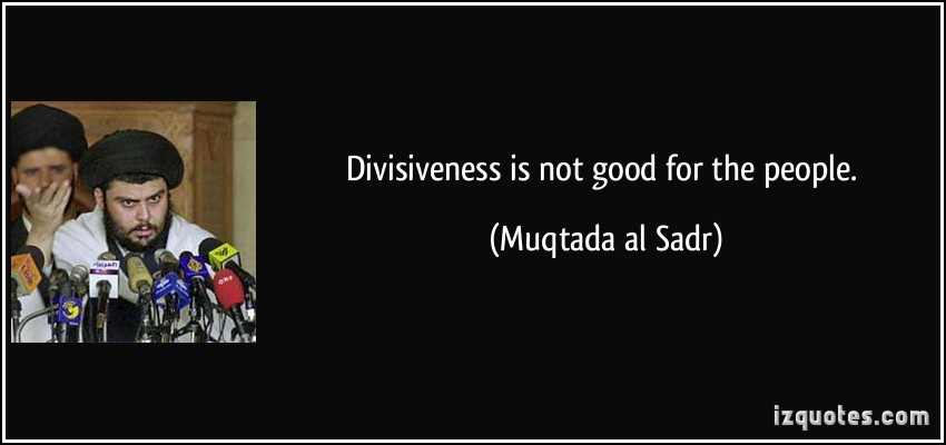 Divisiveness quote #1