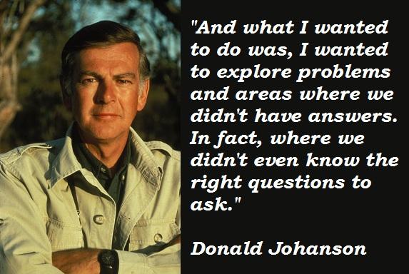 Donald Johanson's quote #4