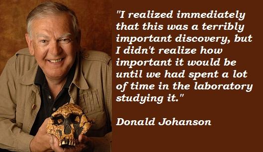 Donald Johanson's quote #1