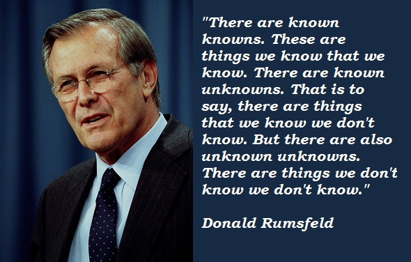 Donald Rumsfeld's quote