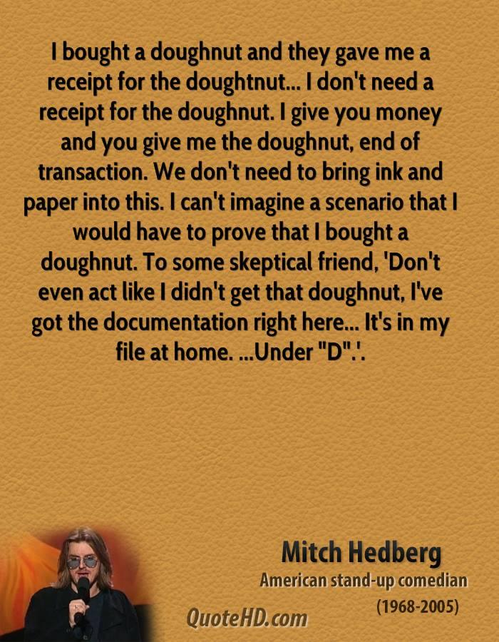 Doughnut quote #1