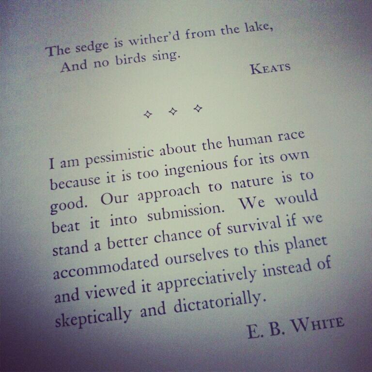 E. B. White's quote #3