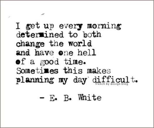 E. B. White's quote