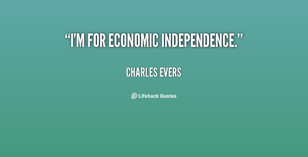 Economic Independence quote #2