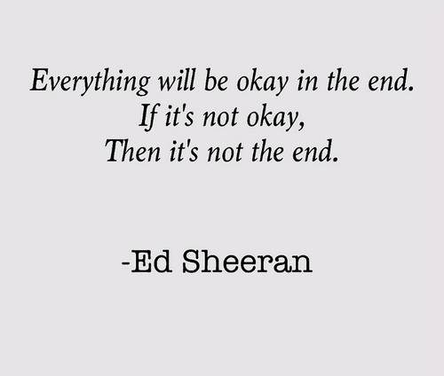 Ed Sheeran's quote