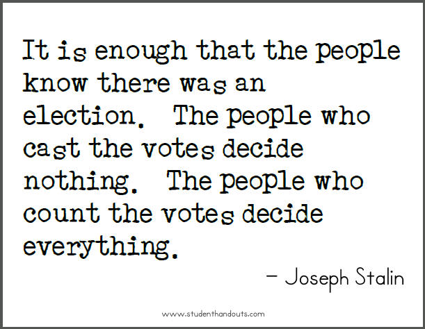Elections quote #2