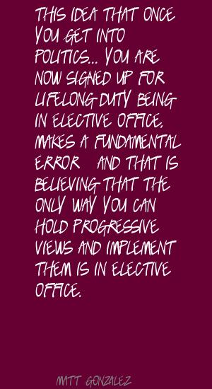 Elective Office quote #1