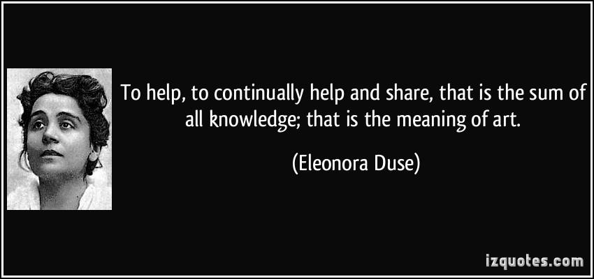 Eleonora Duse's quote #1