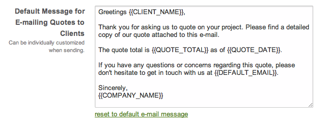 Emailed quote #2