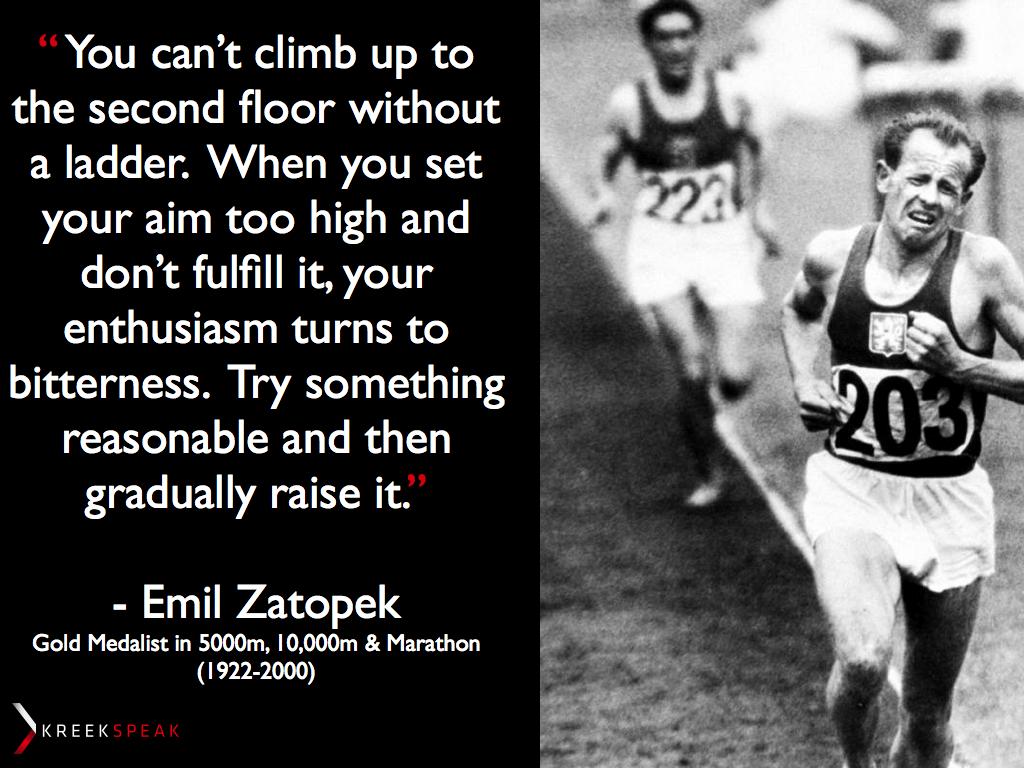 Emil Zatopek's quote #6