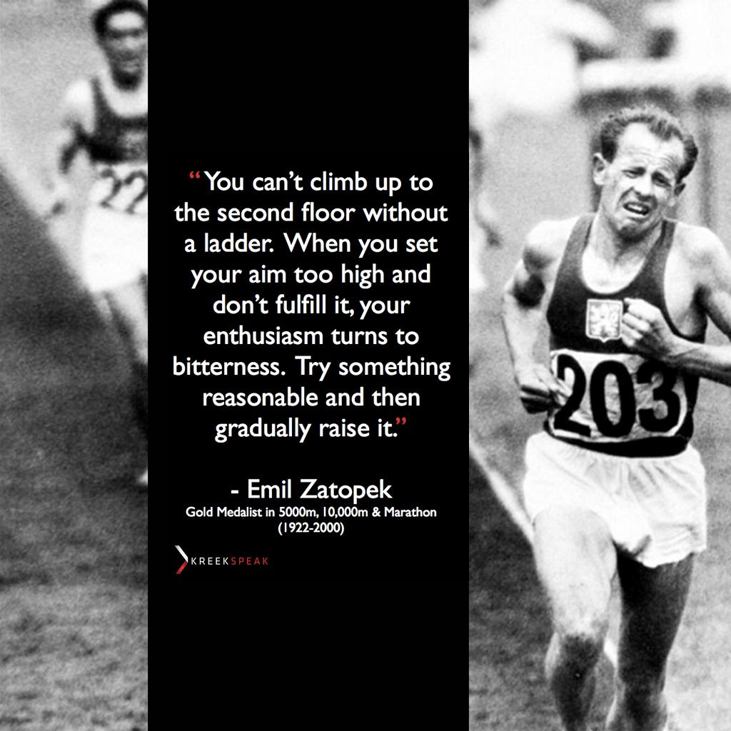 Emil Zatopek's quote #7