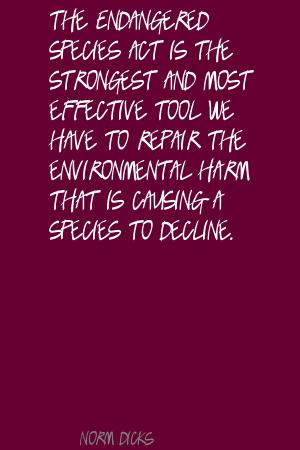 Endangered Species Act quote #2